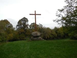 Cross marking where Bernard gave his famous sermon inciting the 2nd Crusade