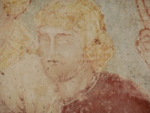 Brancion a redheaded man from an ancient mural in the Church - Rohan?!
