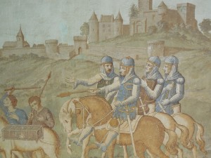 Crusaders set out from Brancion (probably Josserand 111 in the 13th century)